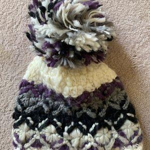 Free People knit Pom Pom beanie